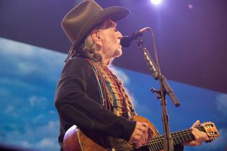 Willie Nelson performs the final set of the night